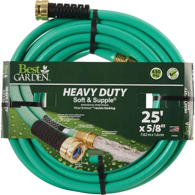 Best Garden 5/8 In. Dia. x 25 Ft. L. Heavy-Duty Soft & Supple Garden Hose