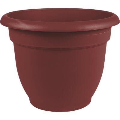 Bloem Ariana 10 In. Plastic Self Watering Burnt Red Planter