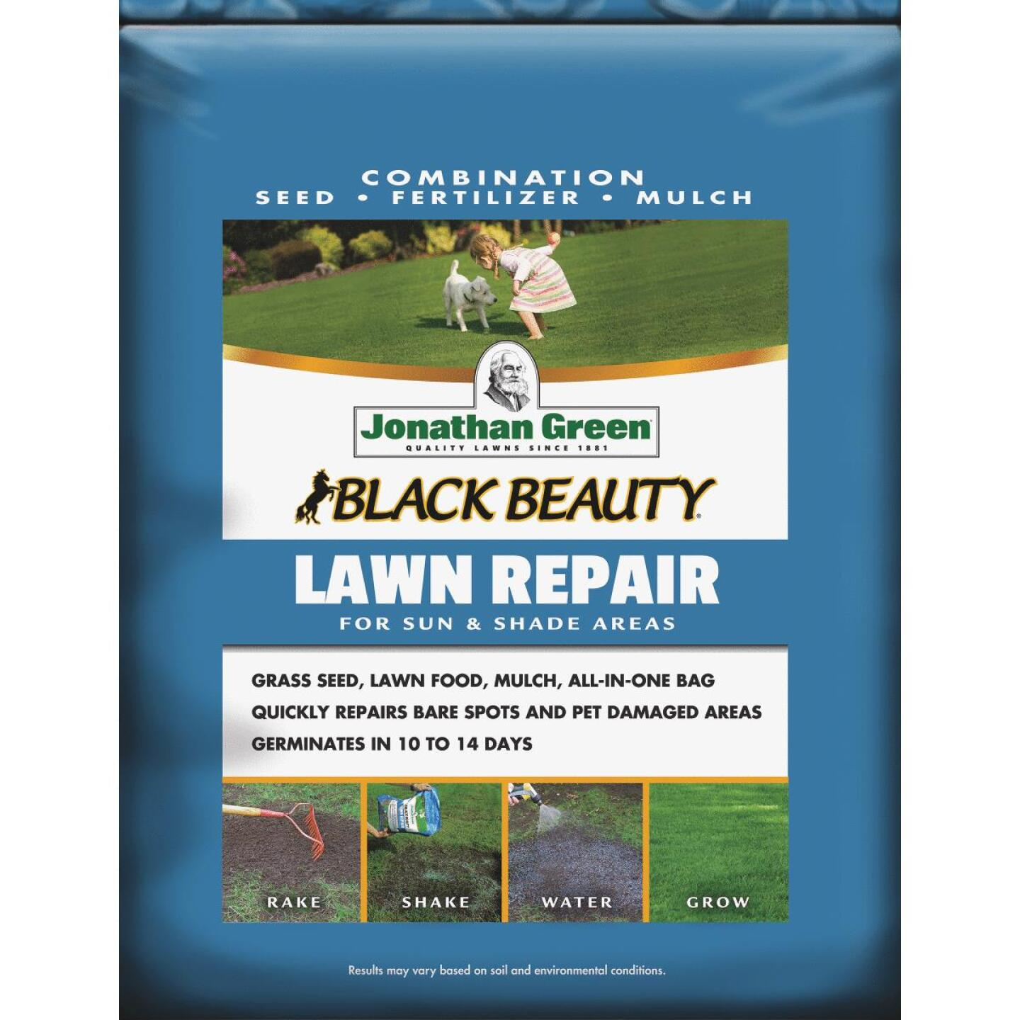 Jonathan Green 4.5 Lb. 100 Sq. Ft. Coverage Black Beauty Ultra Grass Patch & Repair Image 1