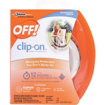 OFF! Clip-On 12 Hr. White Personal Mosquito Repellent