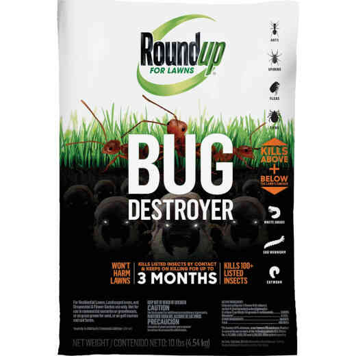 Roundup For Lawns Bug Destroyer 10 Lb. Ready To Use Granules Insect Killer