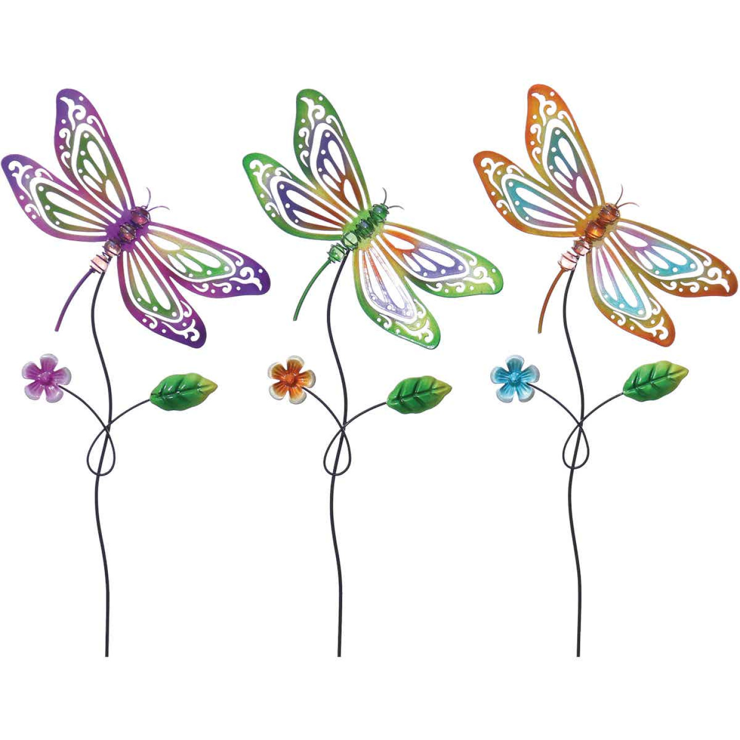 Alpine 24 In. H. Metal Dragonfly Garden Stake Lawn Ornament Image 1
