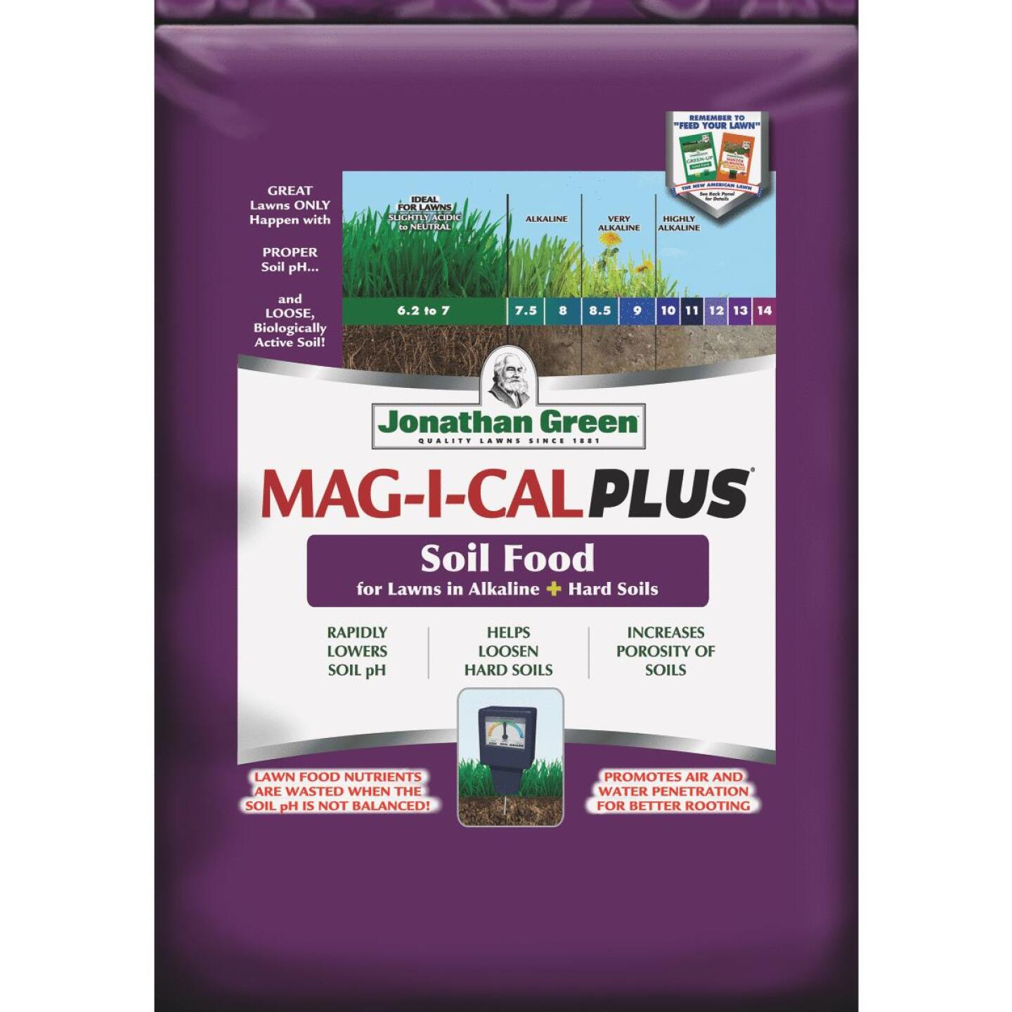 Jonathan Green MAG-I-CAL Plus 54 Lb. 15,000 Sq. Ft. 18% Calcium Lawn Fertilizer For Alkaline Soil Image 1