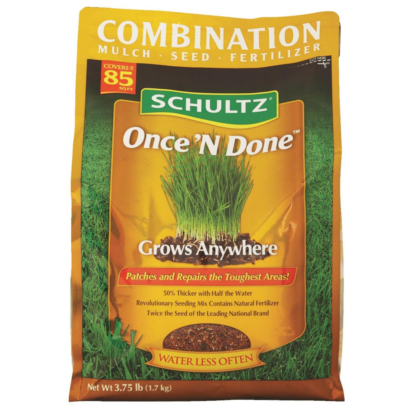 Schultz Once 'N Done 3.75 Lb. 85 Sq. Ft. Coverage Sun & Shade Grass Patch & Repair Image 3