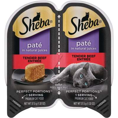 Sheba Perfect Portions Pate 2.6 Oz. Adult Tender Beef Wet Cat Food