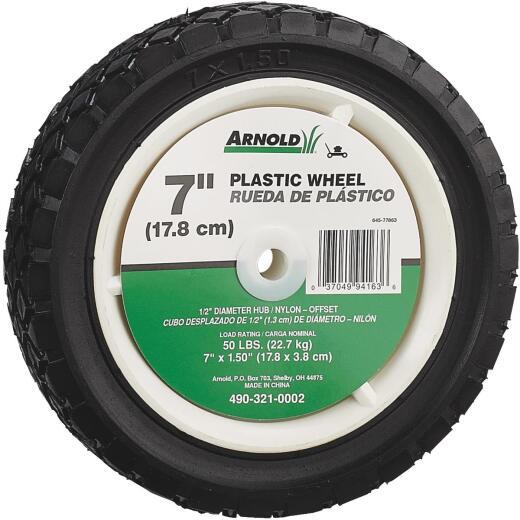 Arnold 7 In. Diamond Tread Offset Hub Wheel