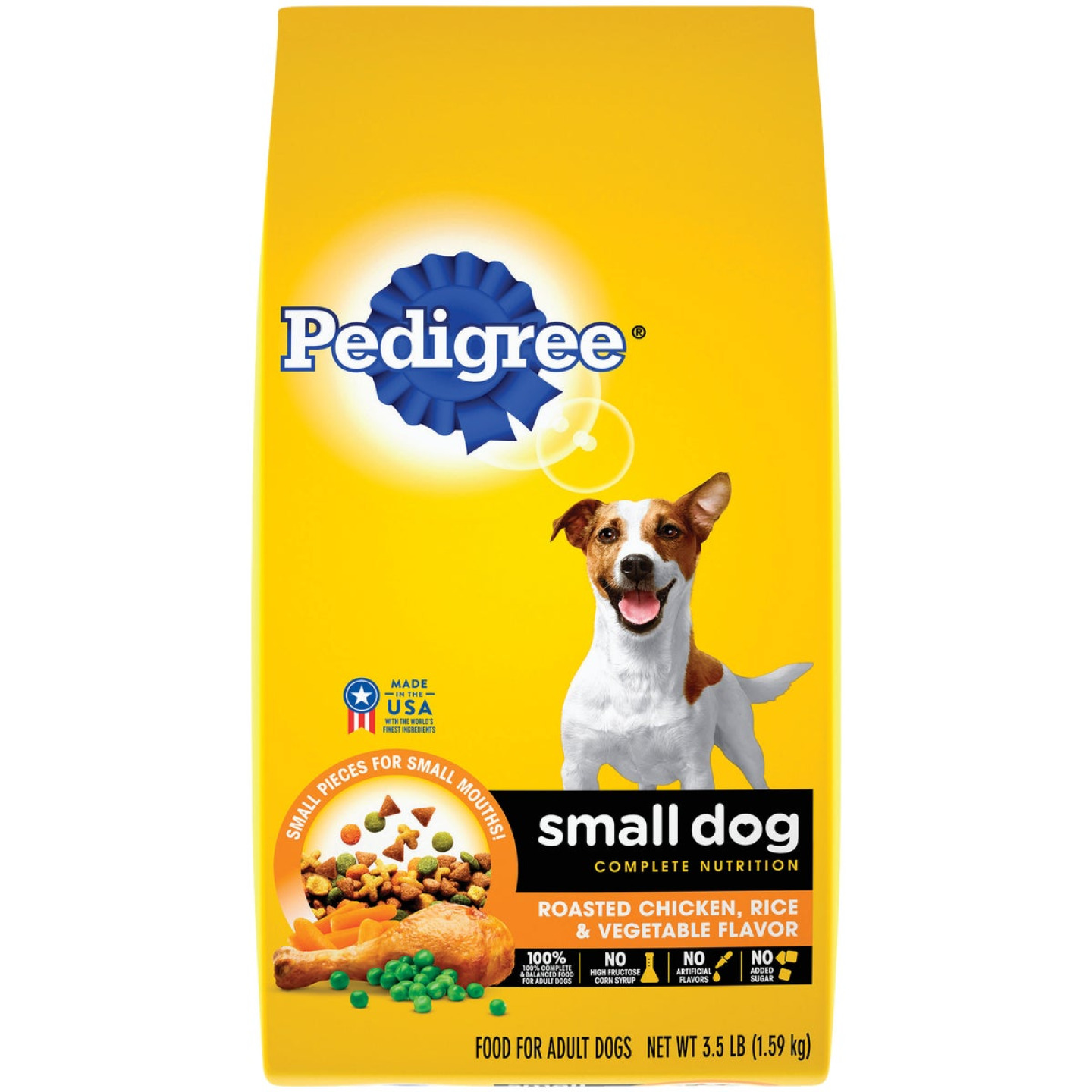 Pedigree Small Dog Complete Nutrition 3.5 Lb. Roasted Chicken, Rice & Vegetable Adult Dry Dog Food Image 1