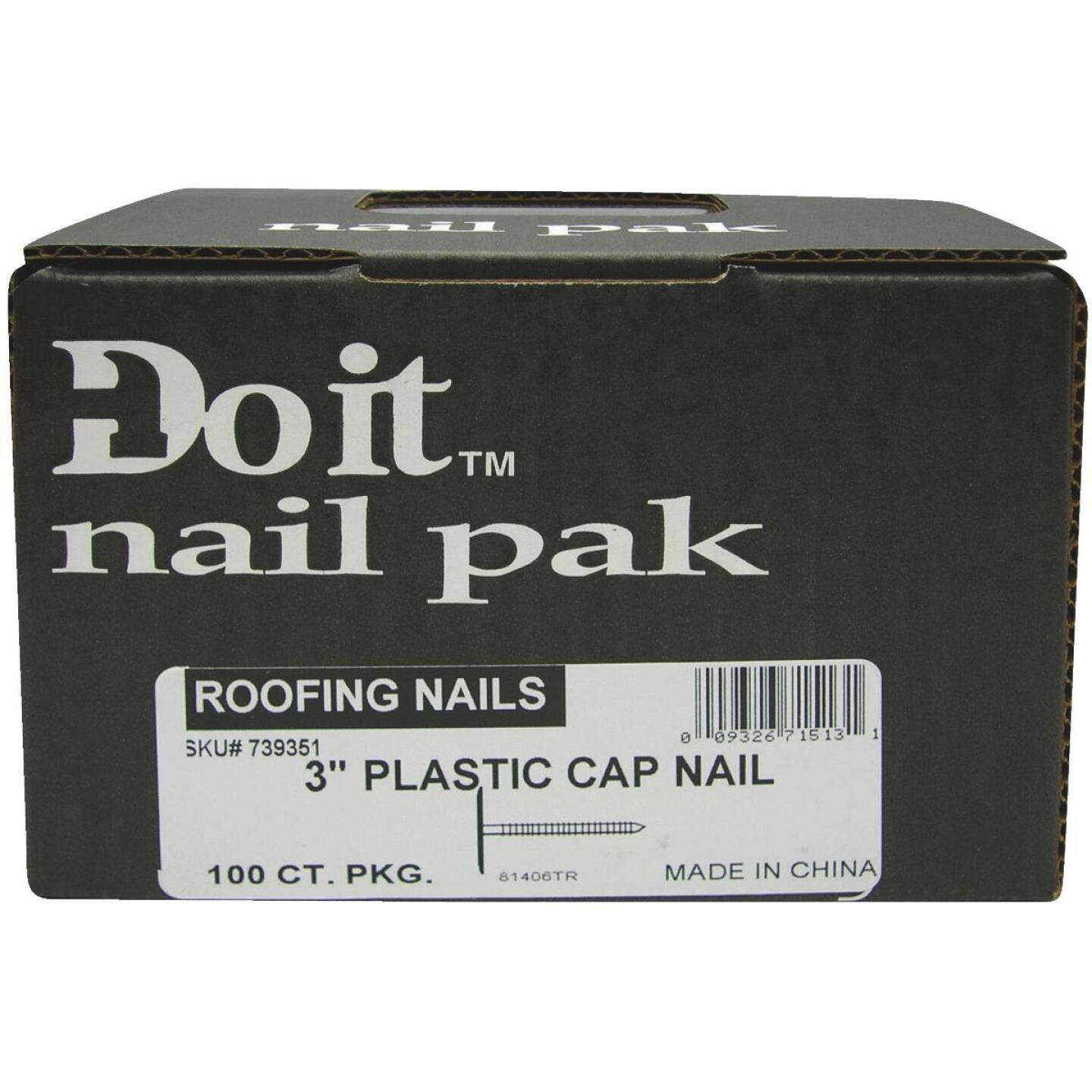 Do it 1 In. 12 ga Electrogalvanized Cap Nails (200 Ct., 1 Lb.) Image 2
