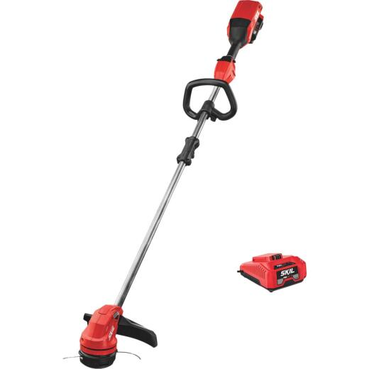 SKIL PWRCore 40V Brushless 14 In. String Trimmer Kit with Twist Load and AutoPWRJump Charger