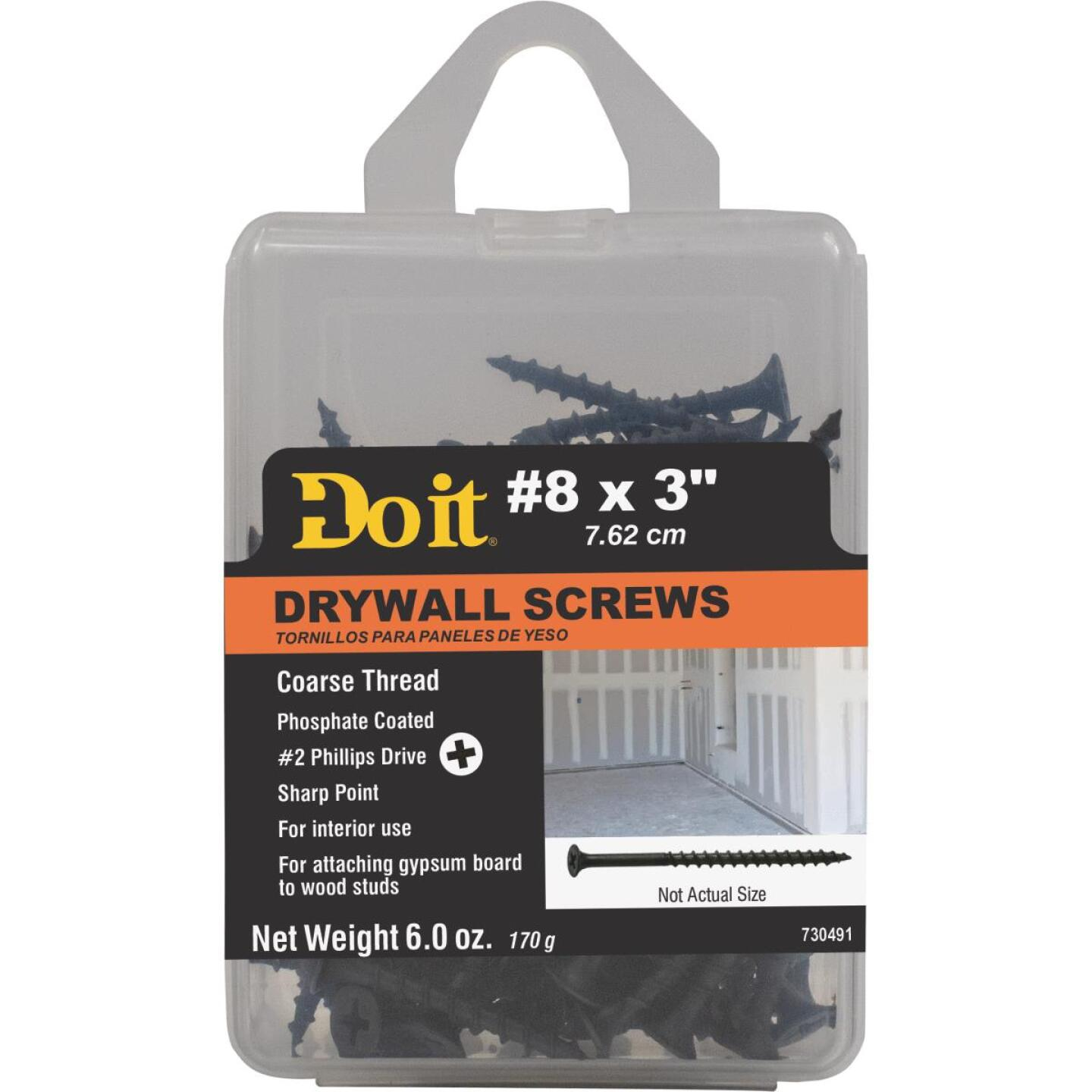 Do it #8 x 3 In. Coarse Thread Phosphate Drywall Screw Image 1