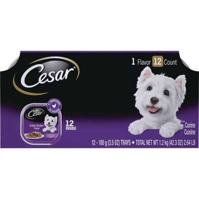 Cesar Classic Loaf Grilled Chicken Adult Wet Dog Food (12-Pack)