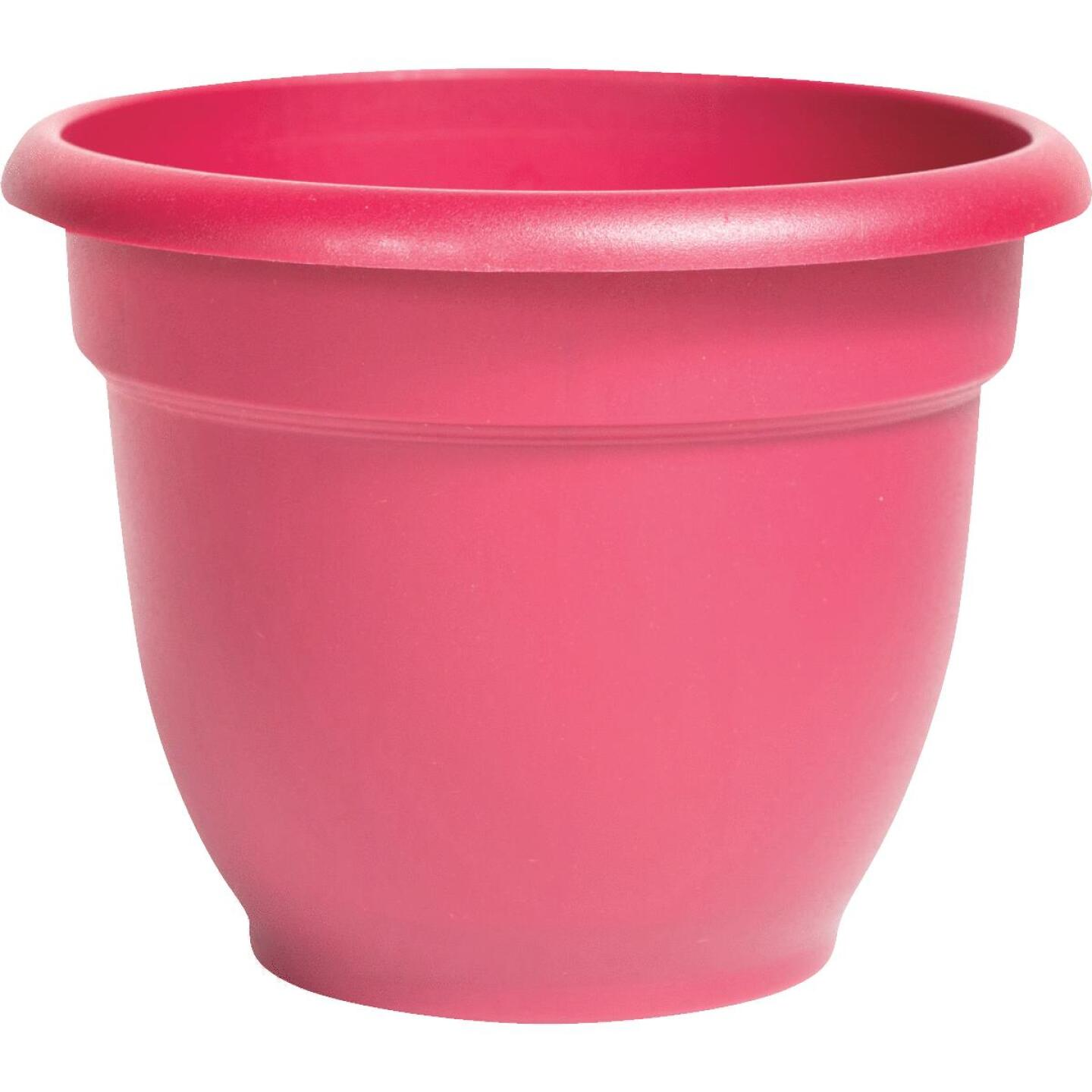 Bloem Ariana 13.75 In. H. x 16 In. Dia. Plastic Self Watering Burnt Red Planter Image 1