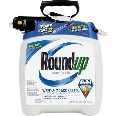 Roundup 1.33 Gal Ready To Use Pump 'N Go Wand Sprayer Weed & Grass Killer III