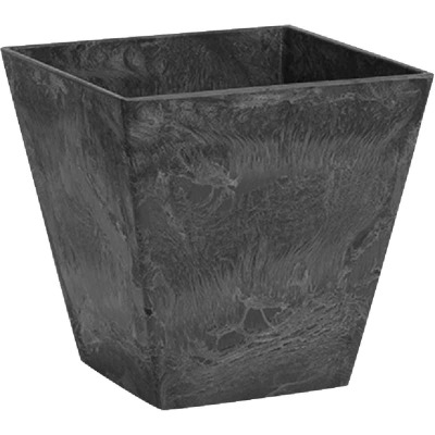 Novelty ArtStone Ella 10 In. W. x 9.75 In. H. x 10 In. L. Black Resin Planter