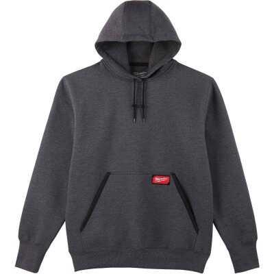Milwaukee 2XL Gray Heavy-Duty Pullover Hooded Sweatshirt