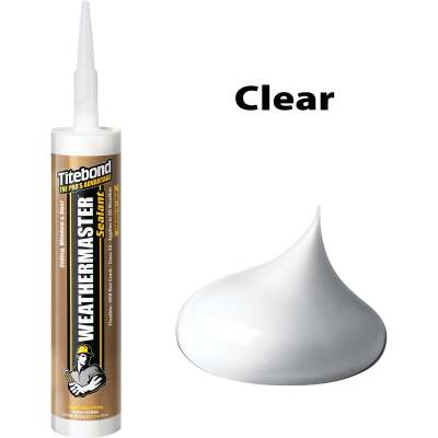 Titebond WeatherMaster 10 Oz. Polymer Sealant, 43991 Crystal Clear