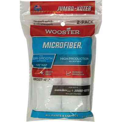 Wooster Jumbo-Koter 4-1/2 In. x 3/8 In. Mini Microfiber Trim Roller Cover (2-Pack)