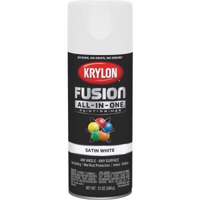 Krylon Fusion All-In-One Satin Spray Paint & Primer, White