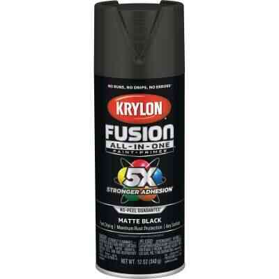 Krylon Fusion All-In-One Matte Spray Paint & Primer, Black