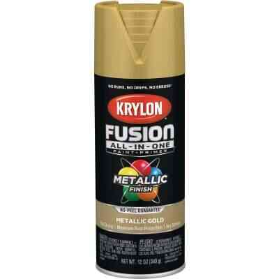 Krylon Fusion All-In-One Metallic Spray Paint & Primer, Gold