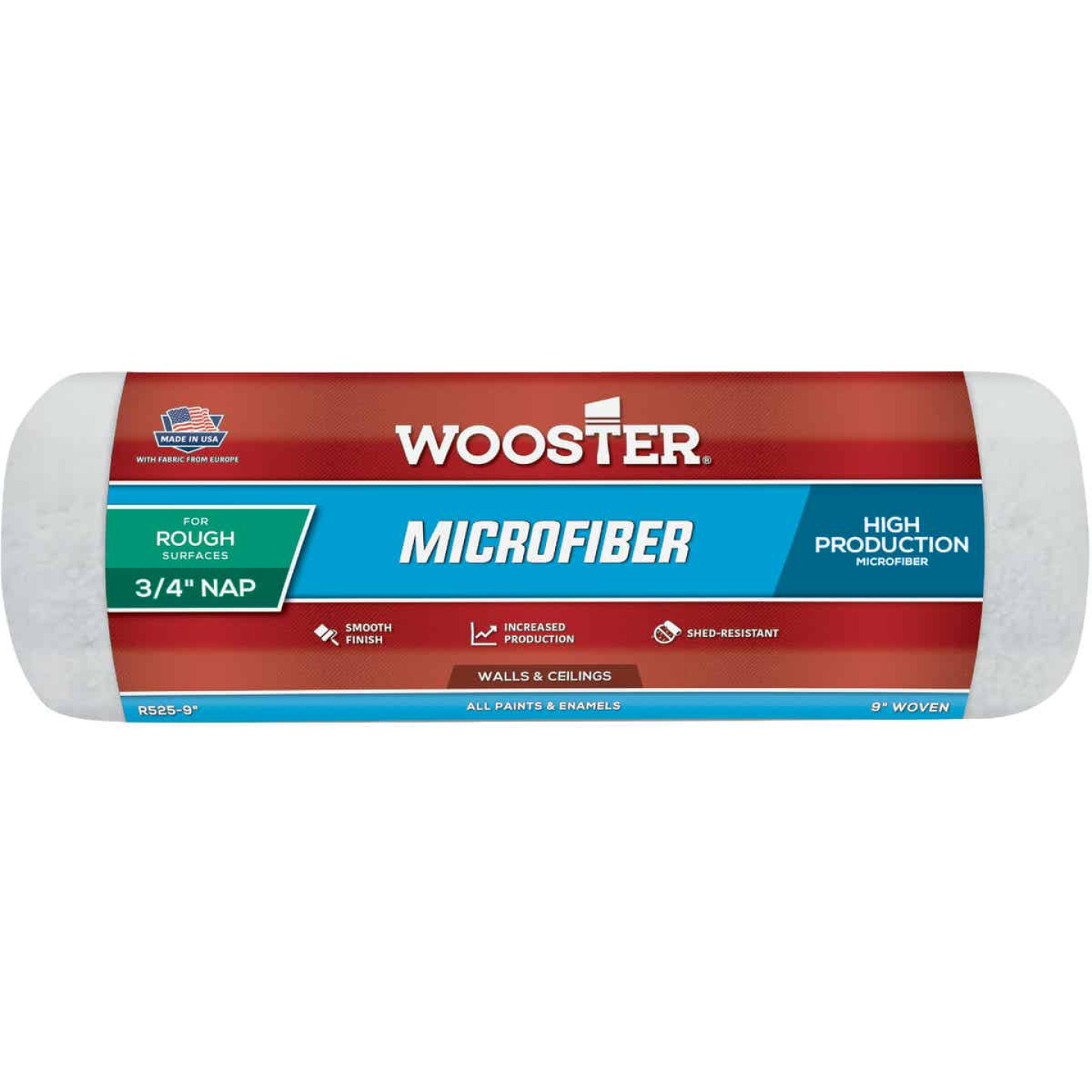 Wooster 9 In. x 3/4 In. Microfiber Roller Cover Image 1
