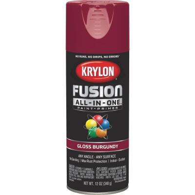 Krylon Fusion All-In-One Gloss Spray Paint & Primer, Burgundy