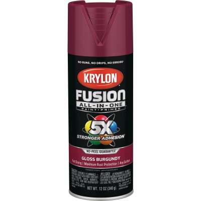 Krylon Fusion All-In-One Gloss Spray Paint & Primer, Burgundy