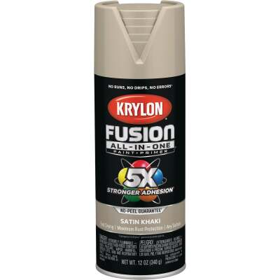 Krylon Fusion All-In-One Satin Spray Paint & Primer, Khaki