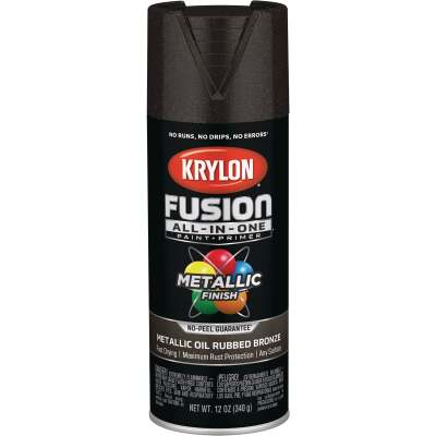 Krylon Fusion All-In-One Metallic Spray Paint & Primer, Oil Rubbed Bronze