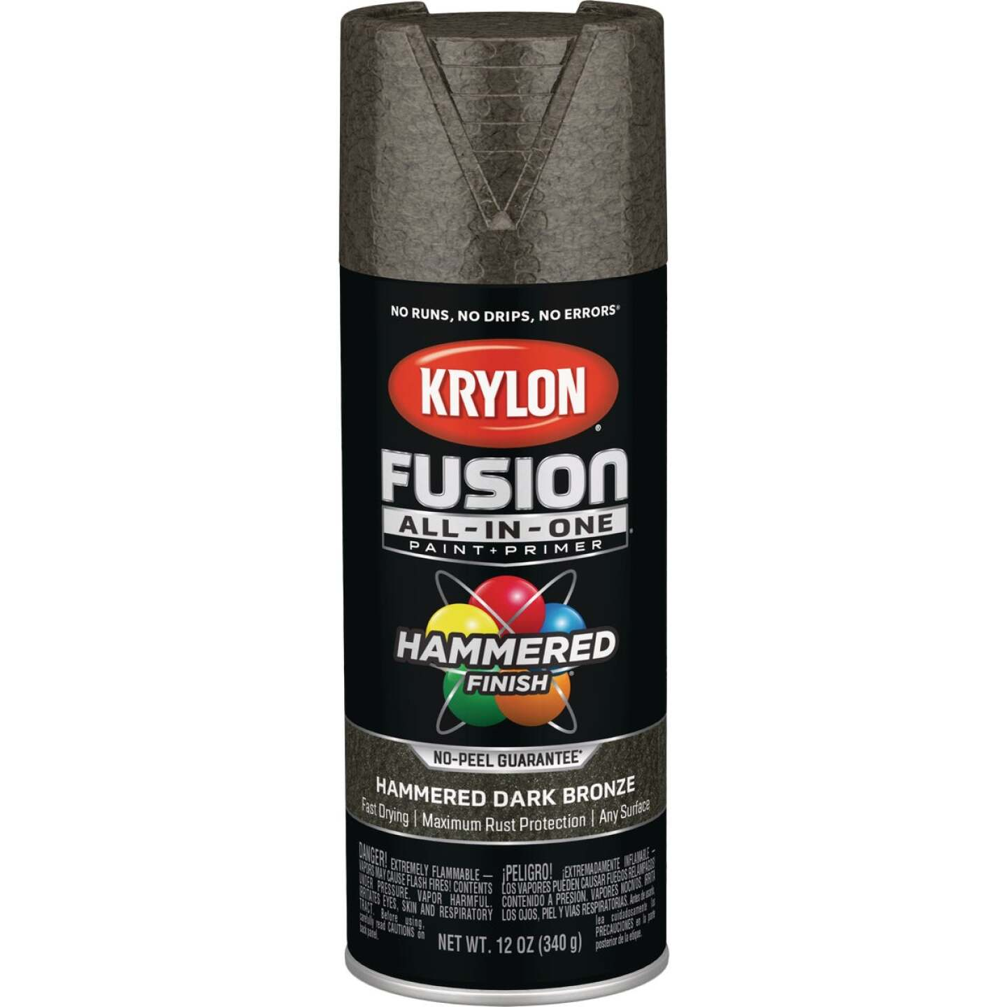 Krylon Fusion All-In-One Hammered Spray Paint & Primer, Dark Bronze Image 1