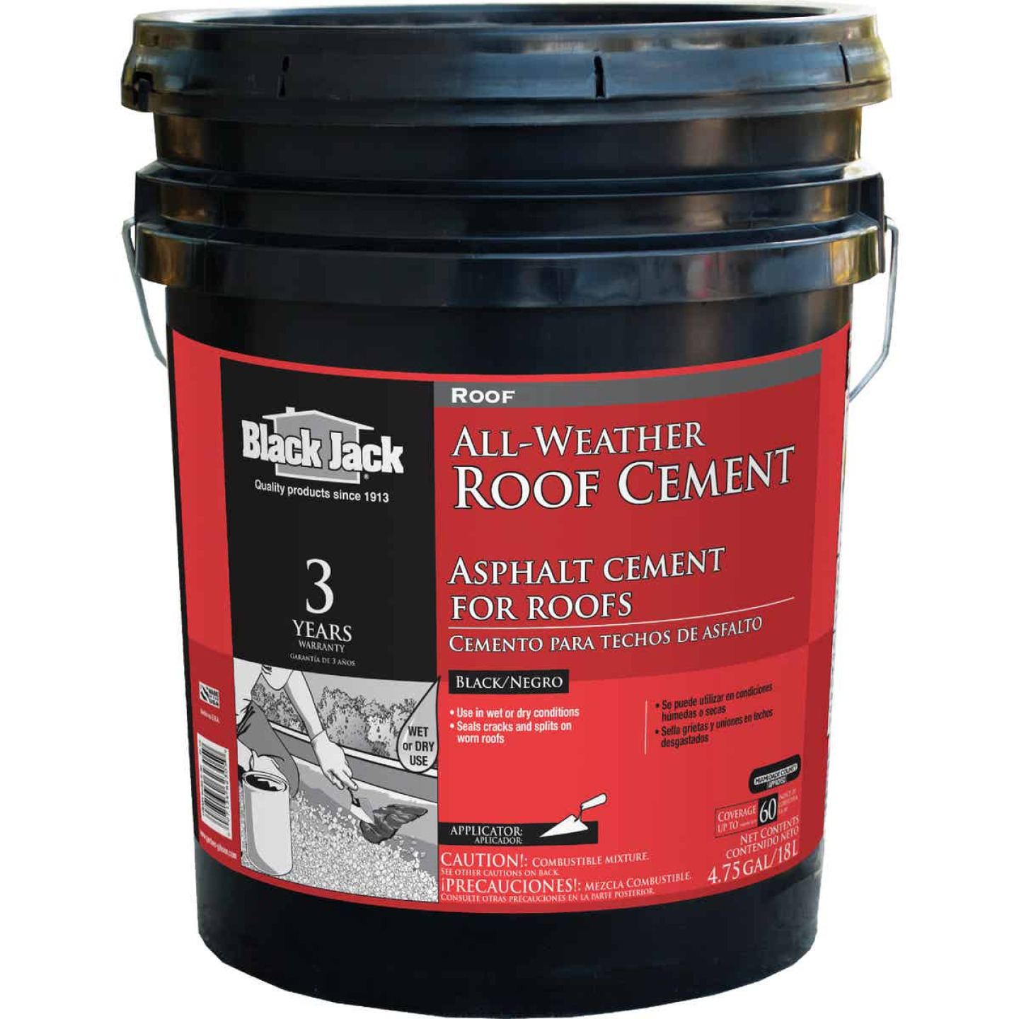 Black Jack 5 Gal. All-Weather Roof Cement Image 1