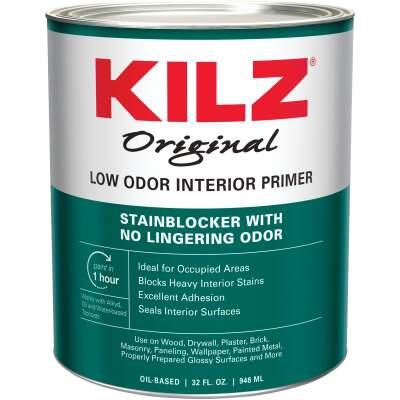 Kilz Odorless Oil-Based Interior Primer Sealer Stainblocker, White, 1 Qt.