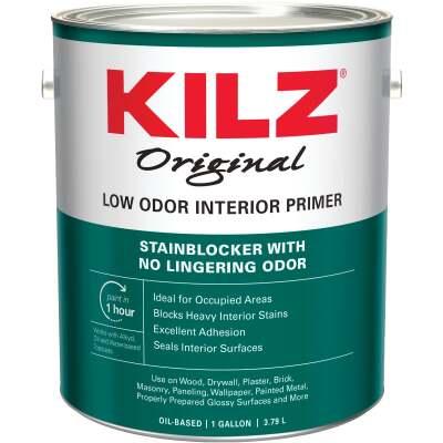Kilz Odorless Oil-Based Interior Primer Sealer Stainblocker, White, 1 Gal.