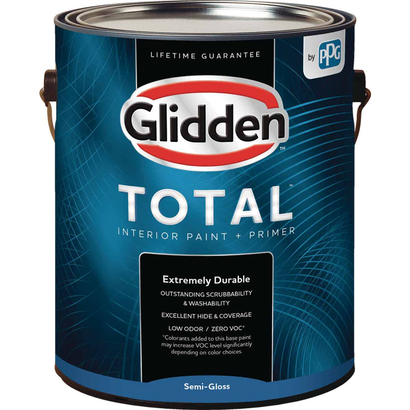 Glidden Total Interior Paint + Primer Semi-Gloss White & Pastel Base 1 Gallon Image 1
