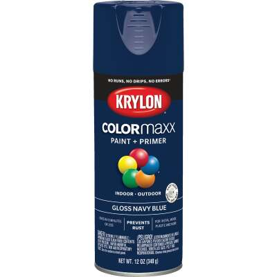 Krylon ColorMaxx 12 Oz. Gloss Spray Paint, Navy Blue