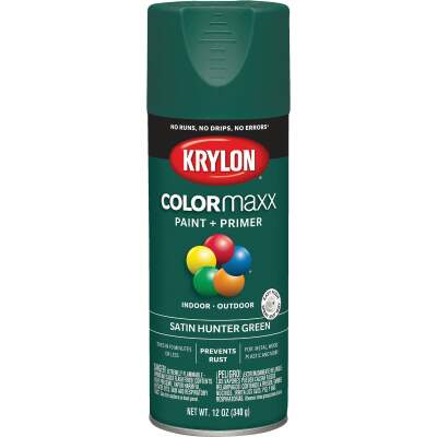 Krylon ColorMaxx 12 Oz. Satin Spray Paint, Hunter Green