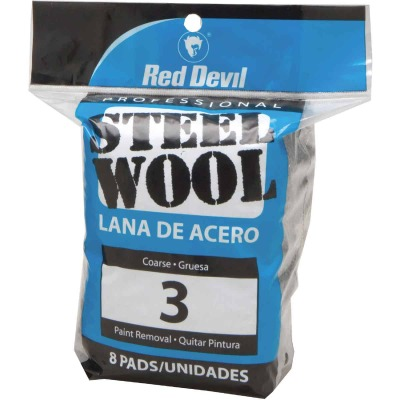 Red Devil #3 Steel Wool (8 Pack)