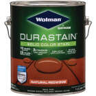 Wolman DuraStain One Coat Solid Color Exterior Stain, Natural Redwood 1 Gal. Image 1