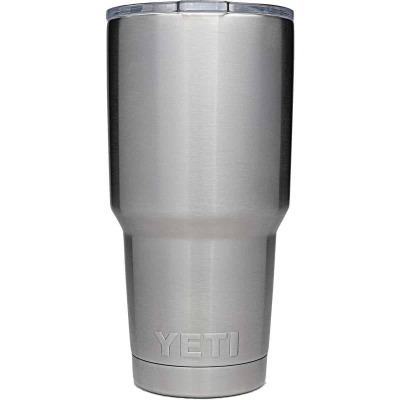 Yeti Rambler 30 Oz. Silver Stainless Steel Insulated Tumbler