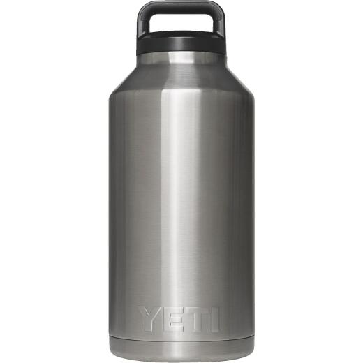 Yeti Rambler 64 Oz. Silver Stainless Steel Insulated Vacuum Bottle