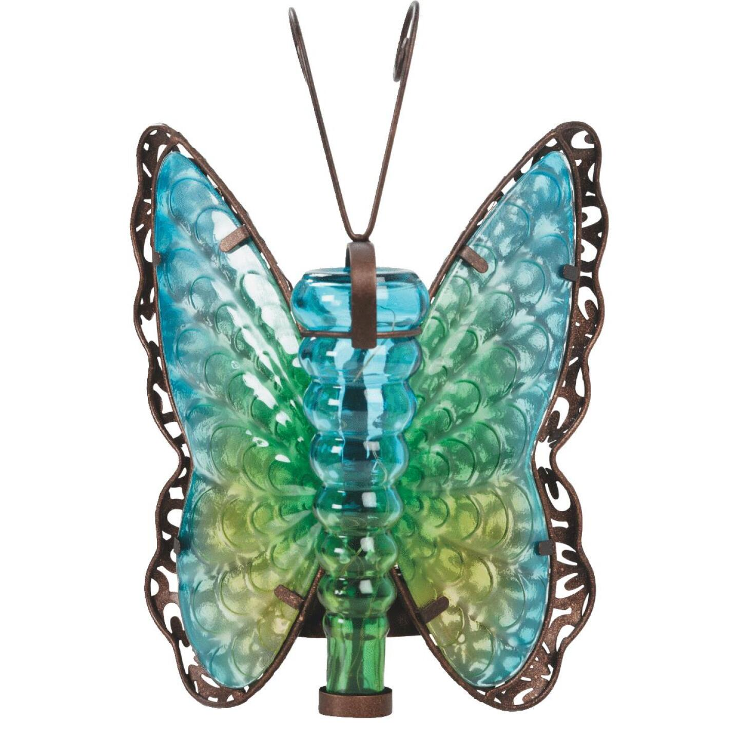 Outdoor Expressions 8 In. W. x 11.25 In. H. x 7 In. D. Butterfly Solar Light Image 5