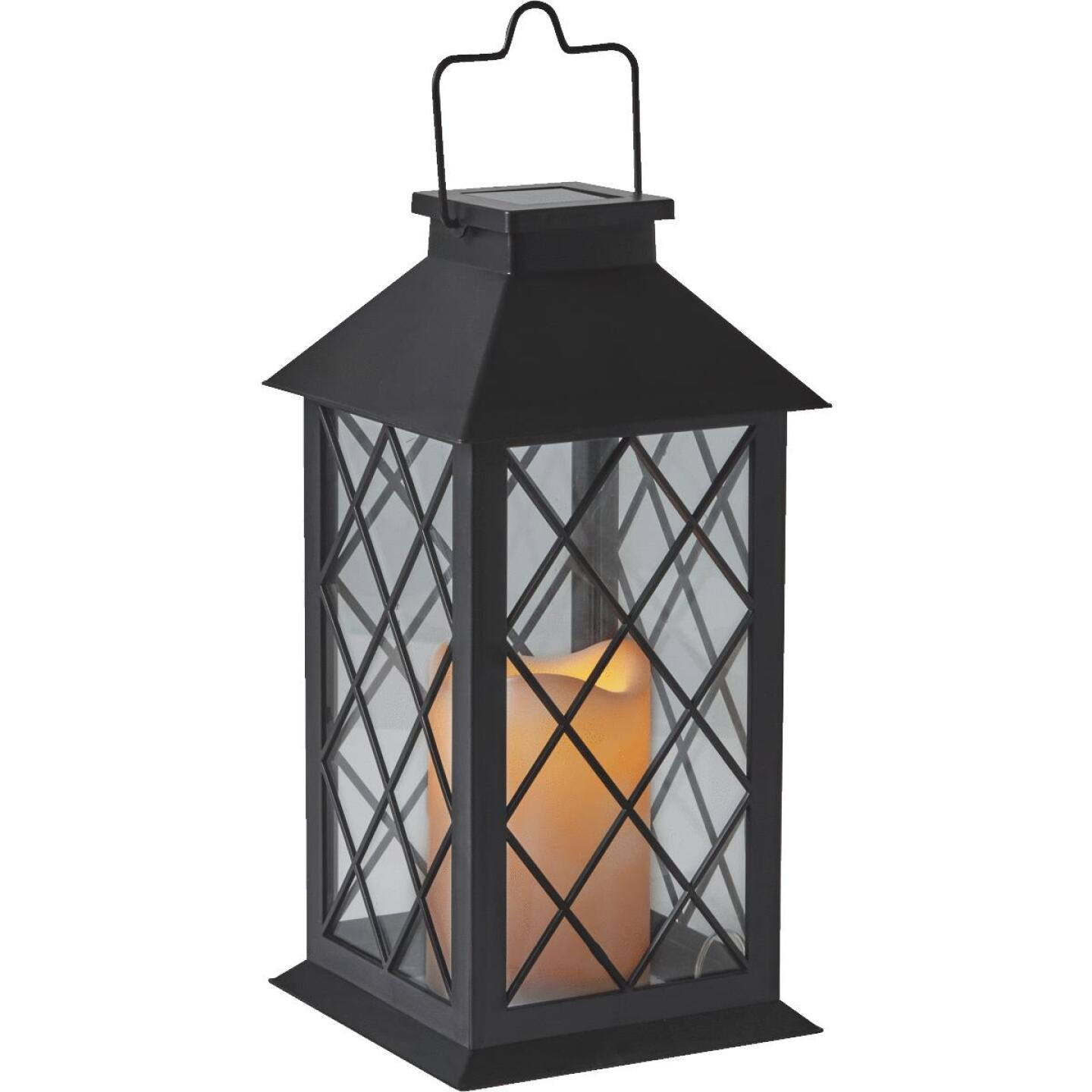 Gardman Cole and Bright 5.5 In. W. x 11 In. H. x 5.5 In. D. Amber Candle Light Plastic LED Solar Lantern Image 3