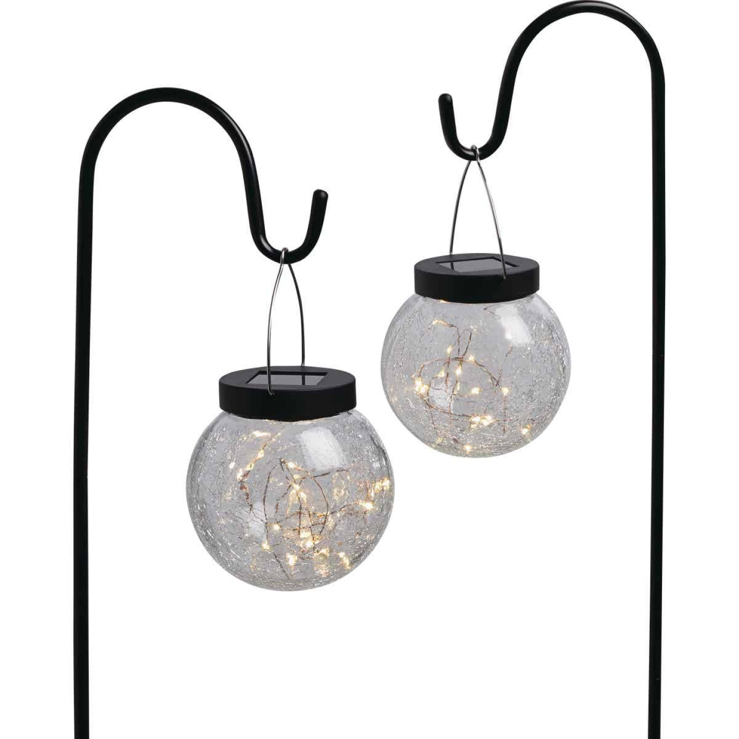 Outdoor Expressions Hanging Glass Globe 30 In. H. Solar Stake Light (2-Pack) Image 1