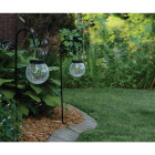 Outdoor Expressions Hanging Glass Globe 30 In. H. Solar Stake Light (2-Pack) Image 2