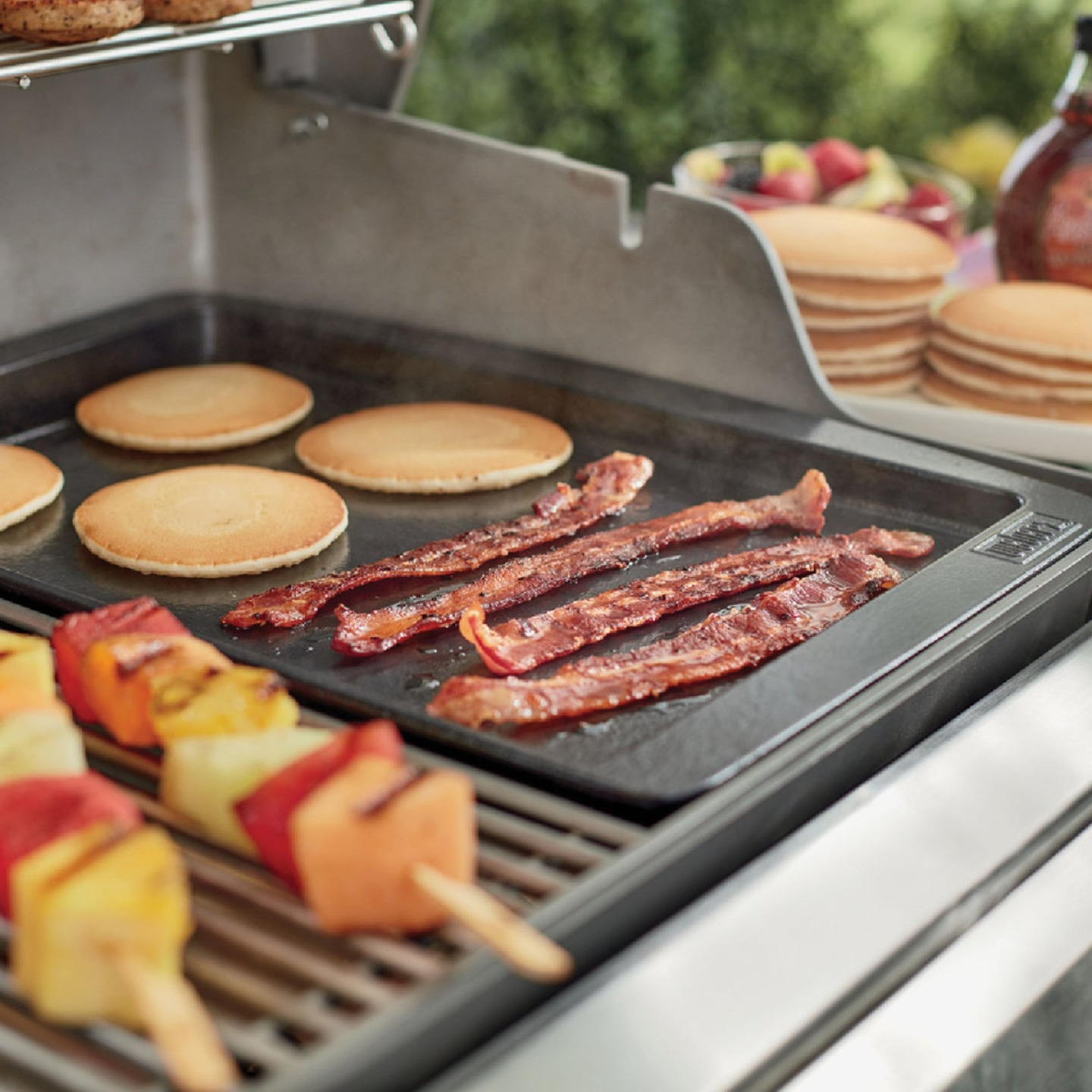 Weber Genesis II 13.2 In. W. x 18.9 In. L. Porcelain-Enameled Cast Iron Gas Grill Griddle Image 2