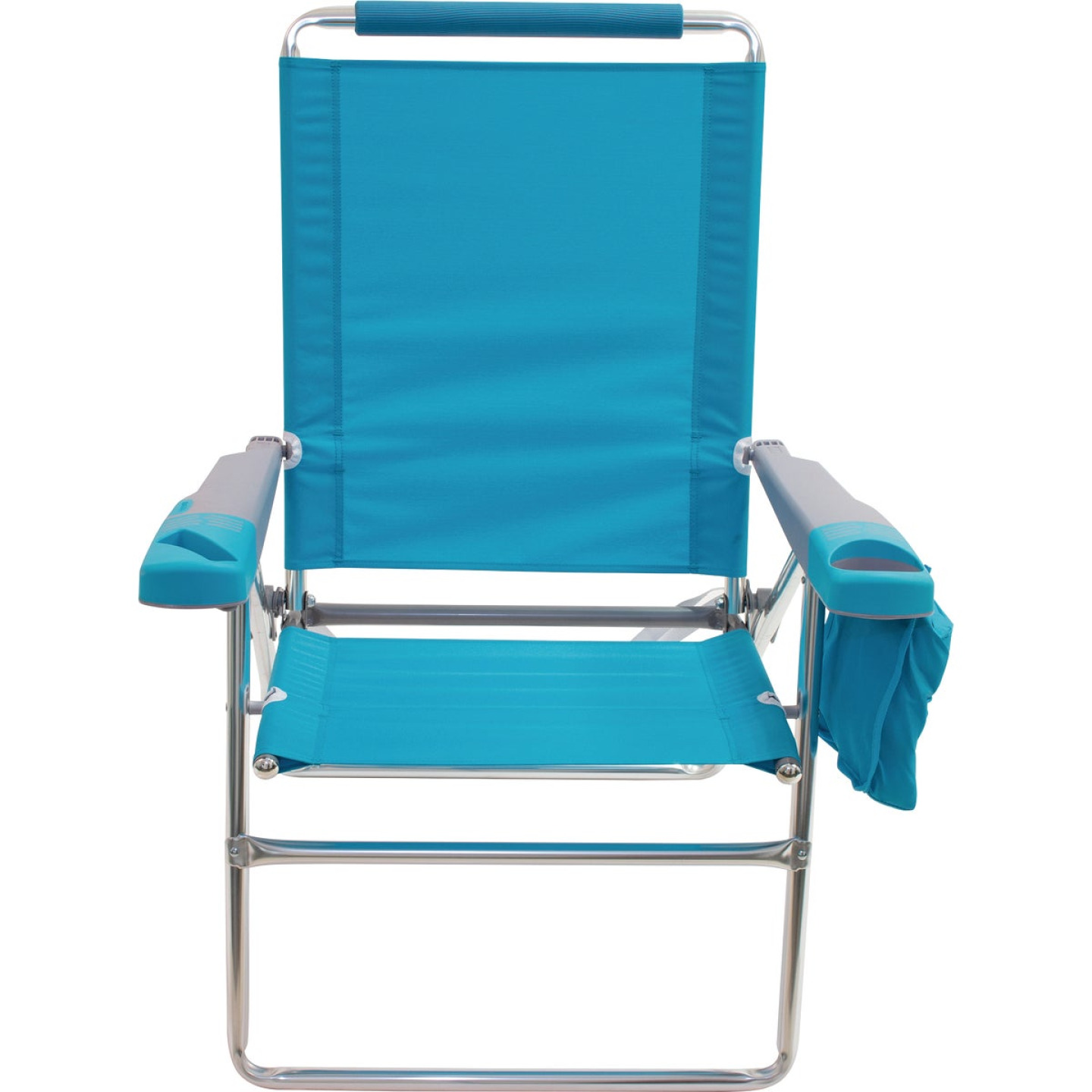 Rio Brands 4-Position Aluminum Folding Beach Chair with Cooler Image 5