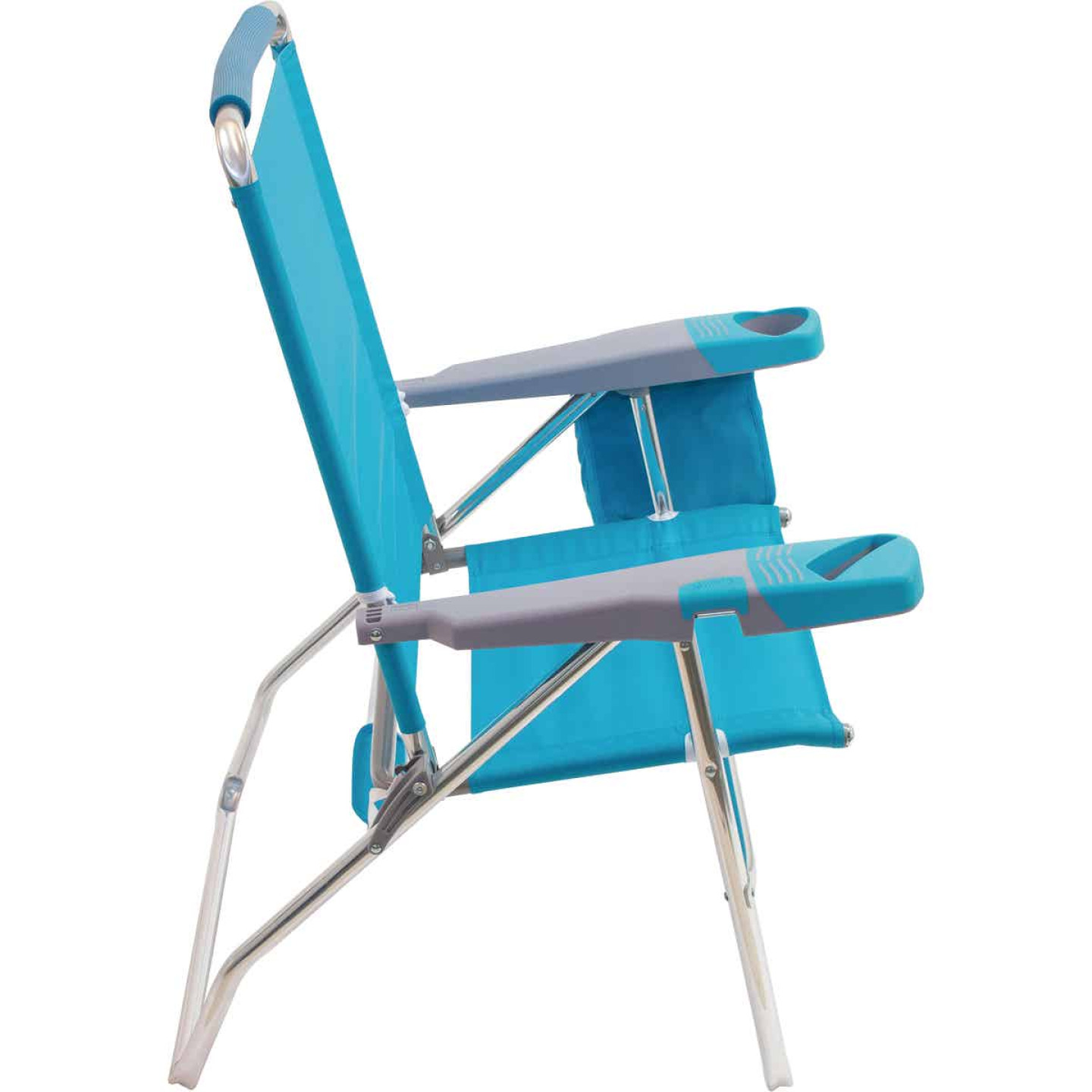 Rio Brands 4-Position Aluminum Folding Beach Chair with Cooler Image 6