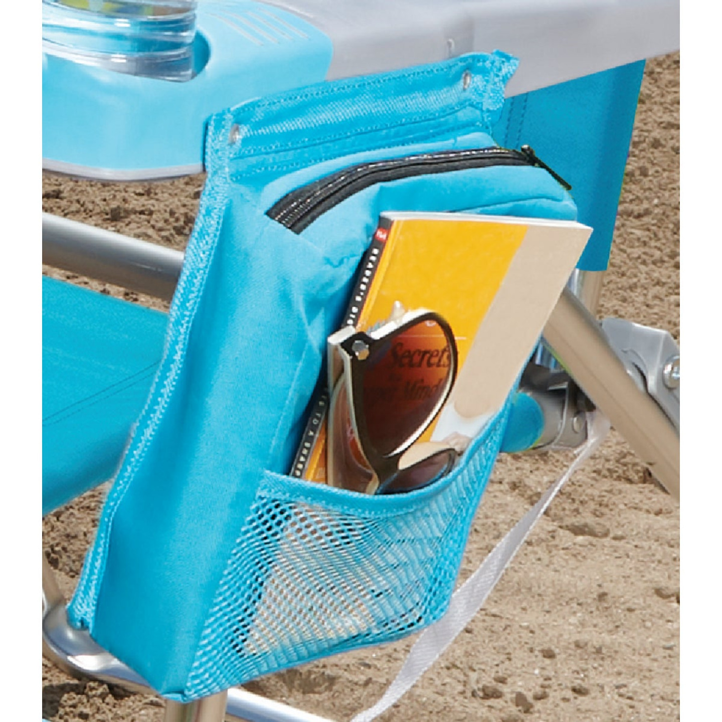 Rio Brands 4-Position Aluminum Folding Beach Chair with Cooler Image 2