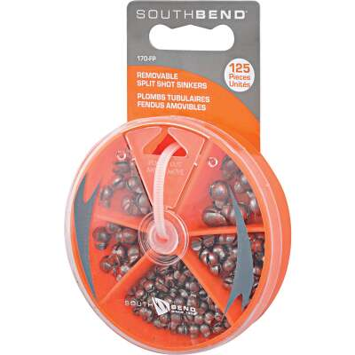 SouthBend 125-Piece Removable Split Shot Sinker Kit Assortment