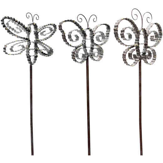 Alpine Metal 33 In. H. Insect Solar Stake Light